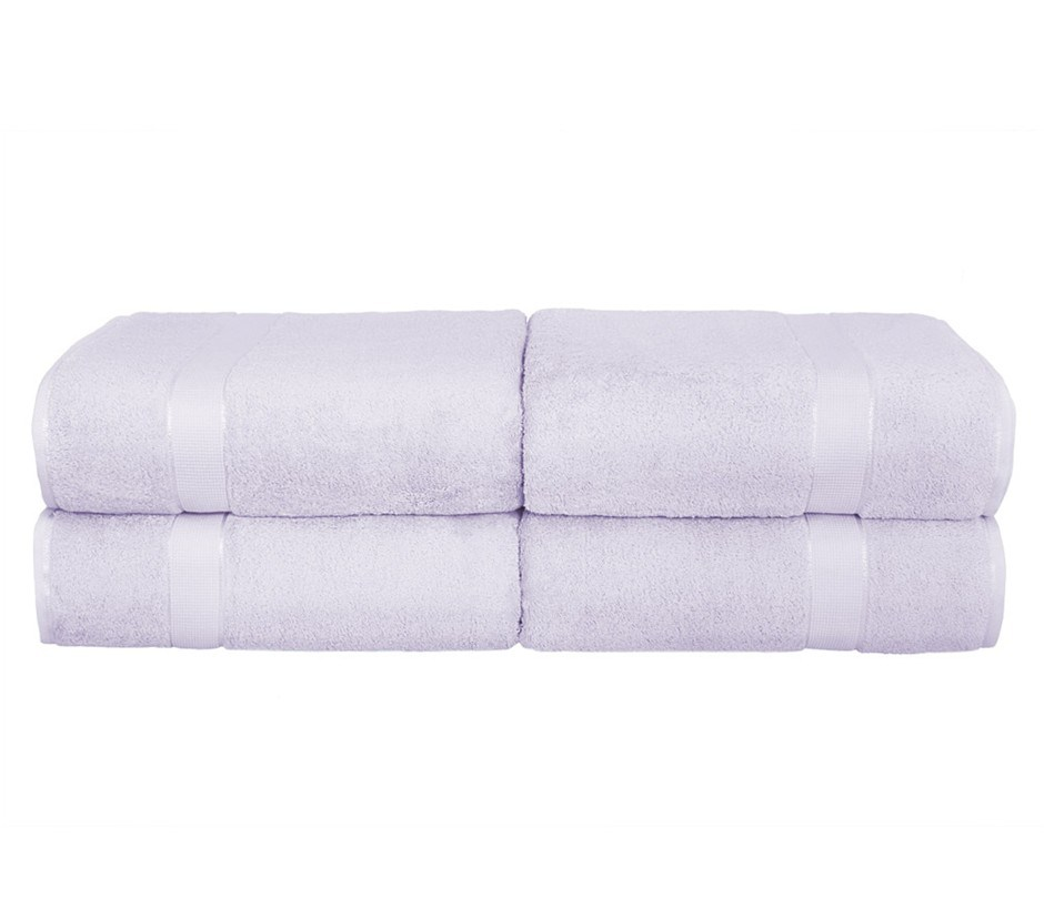 BeddingCo 700GSM Egyptian Cotton 4 Piece Bath Towel Set - Lilac Mist