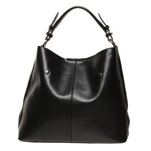 Ada G Black Colour Genuine Leather Handbag