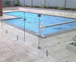 Pool glass gate with 2 stainless steel 316 hinges and for Glass pool gate