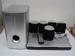 PIONEER Home Theatre System Including: PIONEER DVD/CD Receiver, Model: XV-D