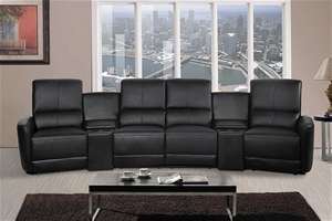 Oscar 4 Seater Home Theatre Reclining Lounge Black Auction 0002 8503399 Graysonline Australia