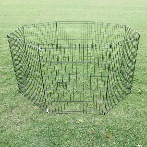 "30"" 8 Panel Pet Playpen Fence Enclosure"