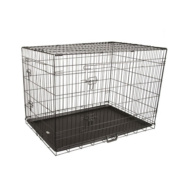 "30"" Medium Collapsible 2 Door Metal Wire Dog Crate"