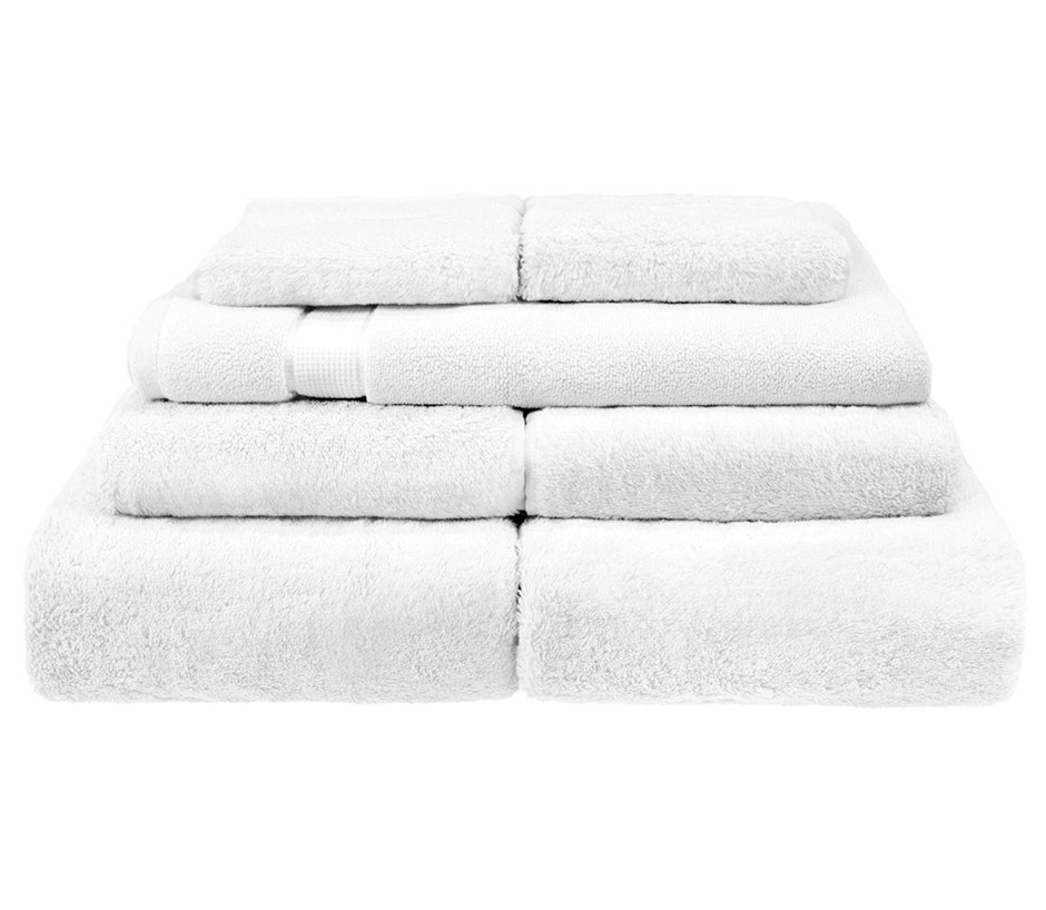 BeddingCo 700GSM Egyptian Cotton 7 Piece Towel Set - White