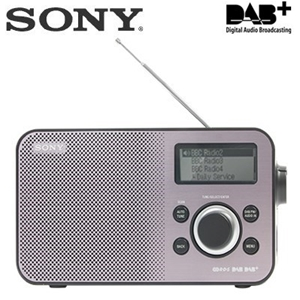 buy sony dab dab fm digital radio silver black graysonline australia. Black Bedroom Furniture Sets. Home Design Ideas