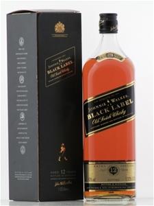 Black Label Price >> Johnnie Walker Black Label Old Scotch Whisky 1 Single 1 125l