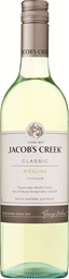 Jacob's Creek `Classic` Riesling 2019 (12 x 750mL), SE, AUS.