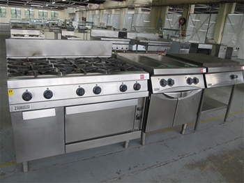 Zanussi stainless steel 4 element electric stove with oven and self ...