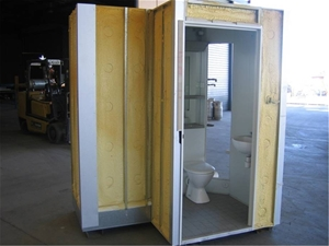 Prefabricated modular bathroom pod plug and play auction for Prefab guest house with bathroom and kitchen