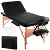 Zenses 3 Fold Portable Wood Massage Table - Black