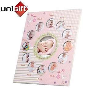 unigift my first year collage photo frame pink - My First Year Photo Frame