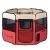 i.Pet Portable Soft Pet Play Pen - Red