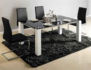 Modern Din07 6 Seater Gl Top Dining Table