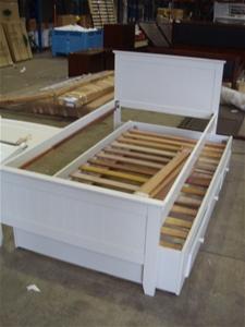 Alaska White King Single Bed Frame With