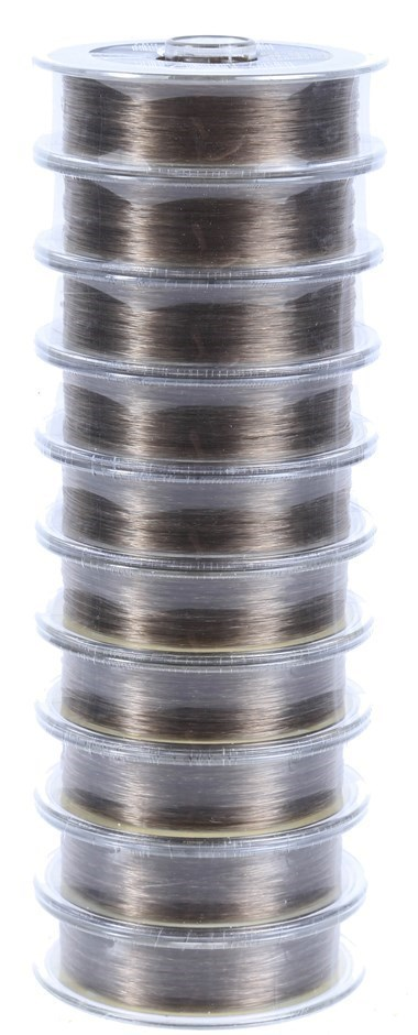 10 Reels Of 100M Fishing Line, 4.6kg Monofilament 0.2mm. Buyers Note - Disc