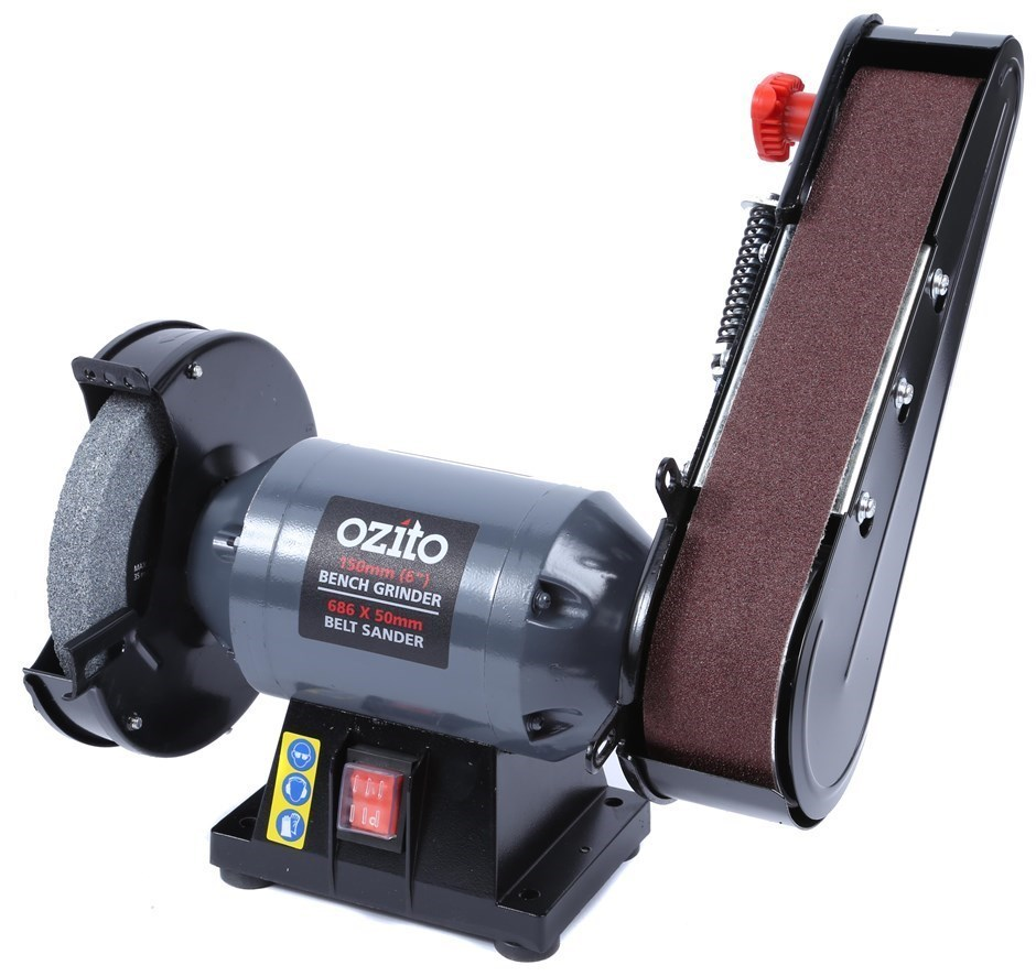 Marvelous Ozito 150Mm Bench Grinder With Belt Sander Attachment Ocoug Best Dining Table And Chair Ideas Images Ocougorg