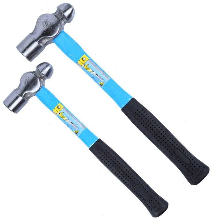 2 x BRENT Ball Pein Hammers 24oz & 16oz with Rubber Grip Fibre Glass Handle