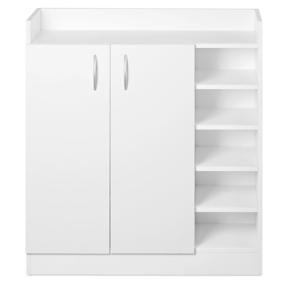 Artiss 2 doors shoe cabinet storage cupboard white