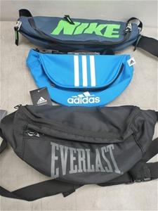 d2e59781ad33 qty of 10 unisex nike adidas everlast bum bag bags Auction (0023 ...