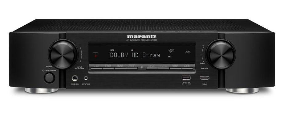 Marantz NR1603 Slim Line 3D Network 7.1 AV Receiver (Black)