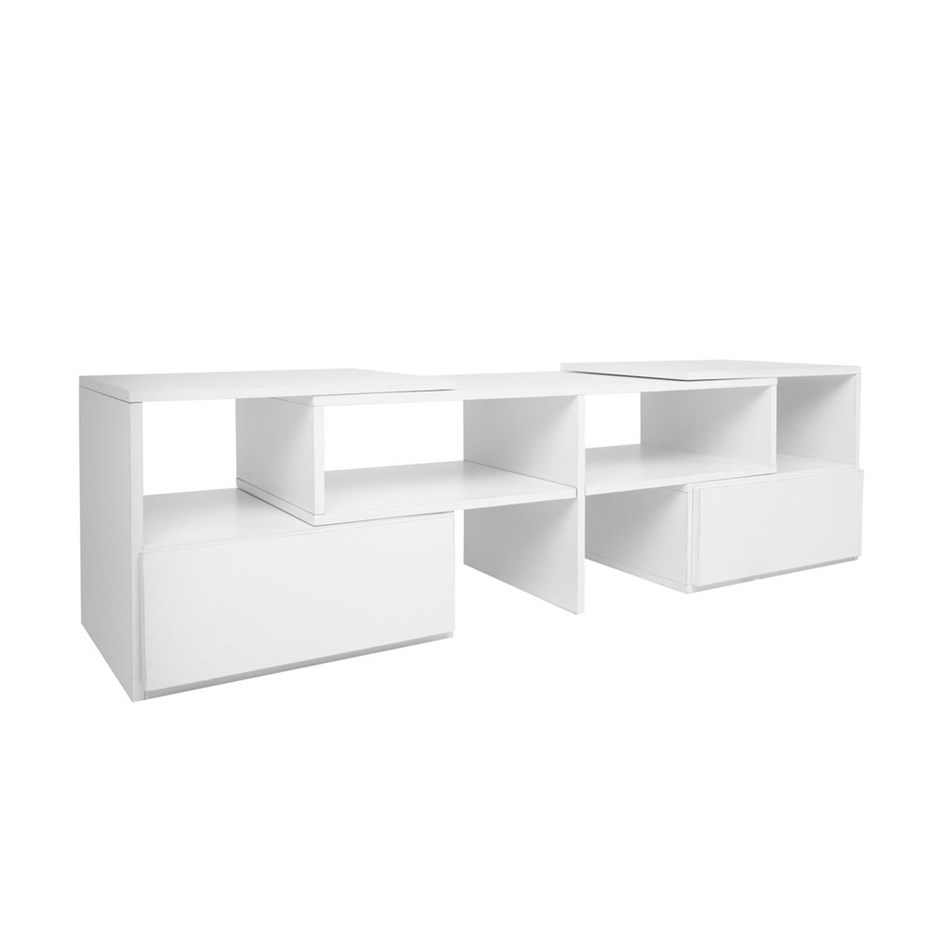 Artiss Entertainment Unit With Cabinets White