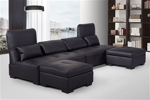 Ritmo multi-function lounge set, Black