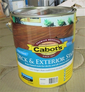 Cabots 4 Litre Redwood Water Based Deck Amp Exterior Stain
