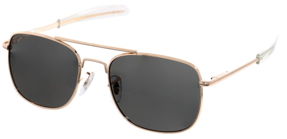 HUMVEE Polarised Sunglasses Gold Frame/ Grey Tint in Pouch. Buyers Note - D