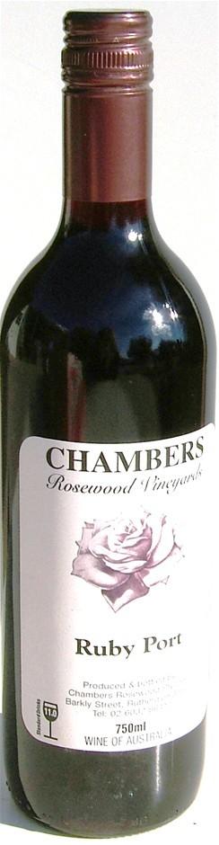Chambers Ruby Port NV (12 x 750mL), Rutherglen VIC.