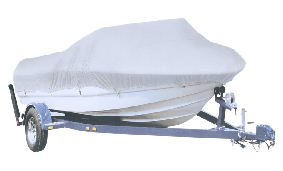 Boat Cover 20 to 22ft, Silver Polyester, 610 x 670 x 254cm c/w Elastic Cord