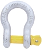 Bow Shackle, WLL 8.5T, Screw Pin Type, Grade S, Yellow Pin. Buyers Note - D