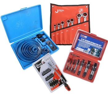 Hand Power Tools, Socket & Drill Bit Sets