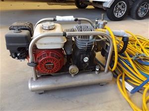 Honda hookah dive compressor with 2 regulators located - Hookah dive compressor ...