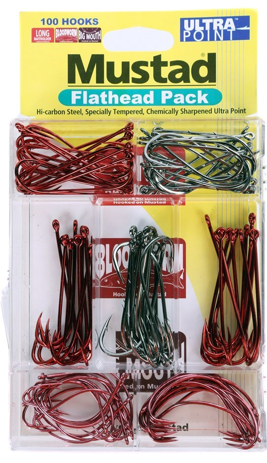 100pc MUSTAD Ultrapoint Flathead Hook Pack. Buyers Note - Discount Freight