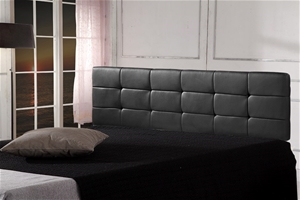 PU Leather King Bed Deluxe Headboard Bed