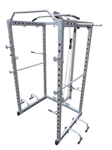 Power Rack Squat Cage Stands w Lat Pulld
