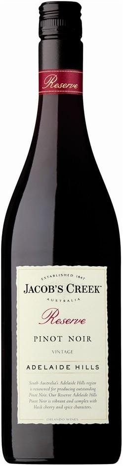 Jacob's Creek `Reserve` Pinot Noir 2018 (6 x 750mL), Adelaide Hills, SA