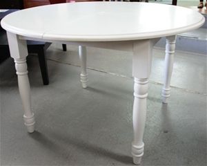 Round Extension Dining Table White Auction 0002 3102803