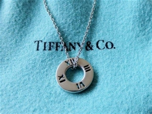 Genuine tiffany co 925 solid sterling silver atlas pierced genuine tiffany co 925 solid sterling aloadofball Choice Image