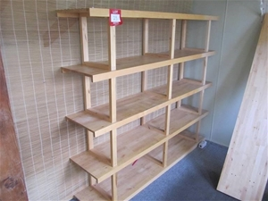 best loved 65de0 452ad Timber shelving unit,