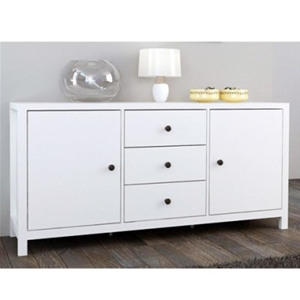 natalie buffet unit w drawers cupboards white - White Buffet
