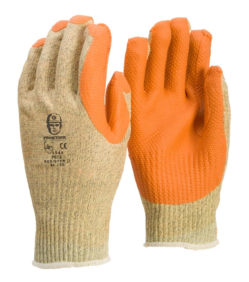 12 x Pairs Cut Resistant Gloves, Size 2XL, With Rubber Grip Palm. (SN:BVR-K