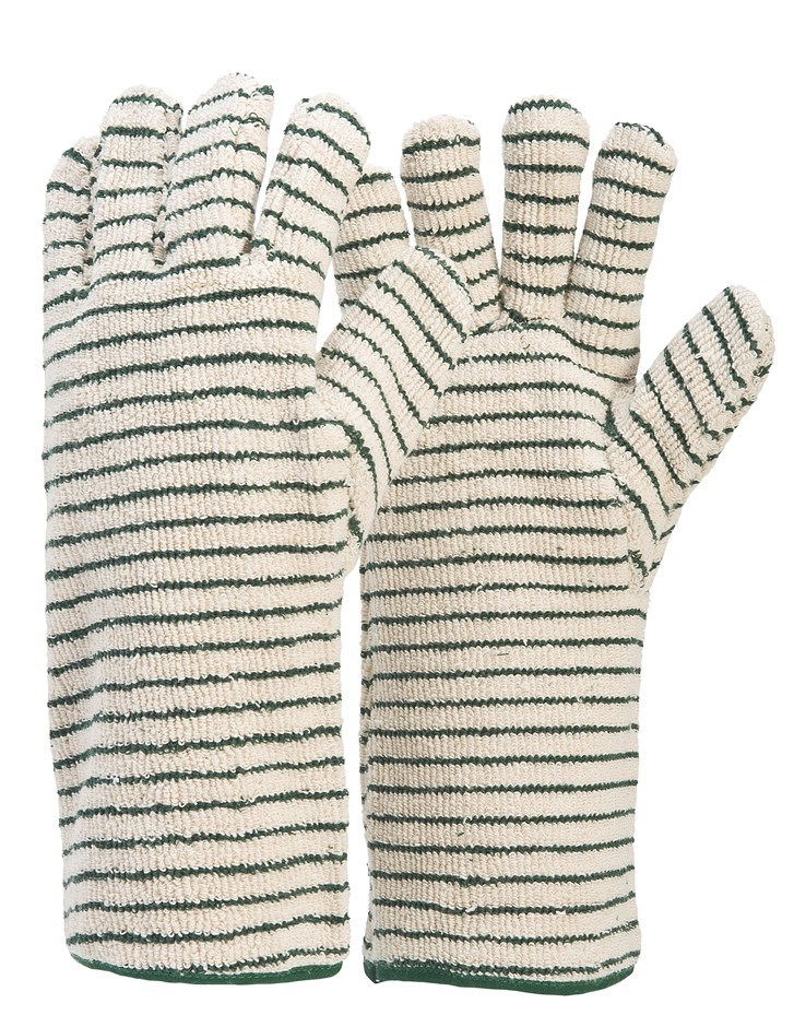 12 Pairs x Industrial Oven Gloves, Size XL, Spark Resistant Terry Cord. (SN