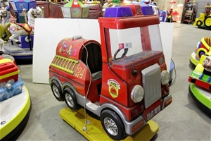 Coin Operated Spanish Made Fire Truck Kiddie Ride, Working Condition, Asset