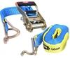 2 x Tie Down Assemblies, Ratchet Type, L/C 2500kg, 50mm x 9Mtrs c/w Hook &
